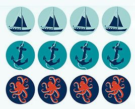 GIFTS: Nautical Circle Stickers (Embellishments)