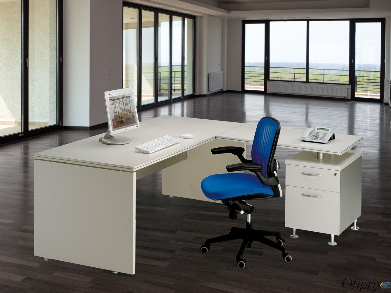 Mesas de Oficina Baratas - Work Basic | Mesa de oficina, Oficinas y ...