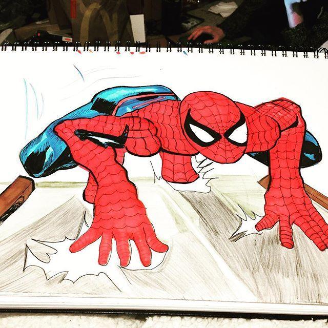 Awesome Spider-man artwork created by @brocklehurstsophie ...