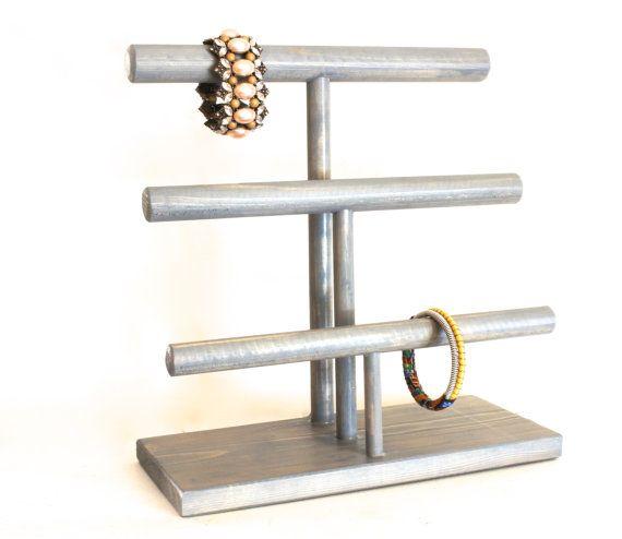 Bracelet Display 3-Tier, Wood Jewelry Display, Necklace Display, Bracelet Stand, Necklace Stand, Bracelet Holder, Choose the Stain