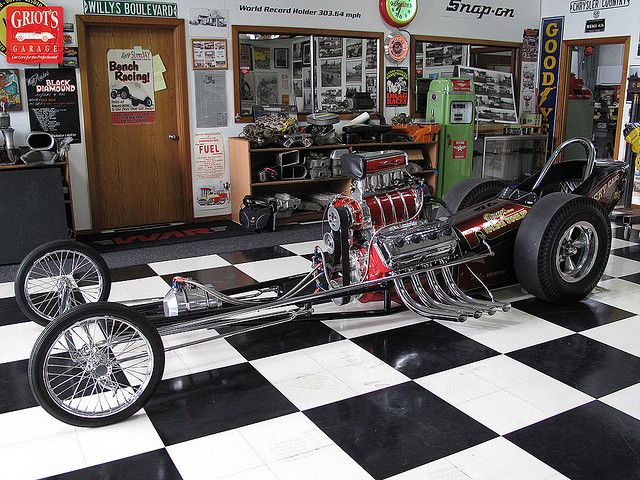 1963 Top Fuel Dragster Side View Dragsters Drag Racing Cars