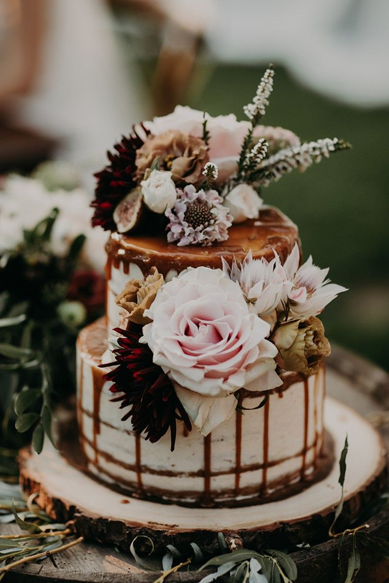 Romantic Boho Country Wedding   Wedding cake rustic, Fall wedding cakes, Wedding