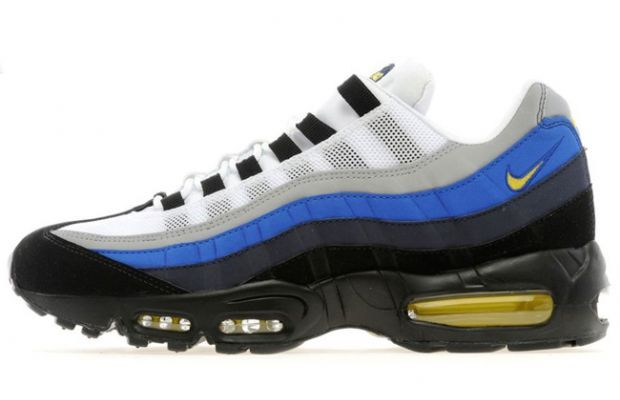 blue and yellow air max 95