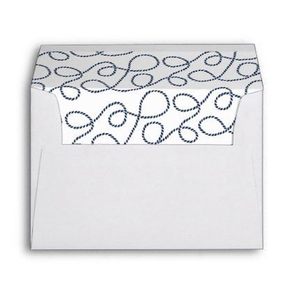 Seaworthy Rope Pattern 5x7 Return Address Envelope - pattern - sample small envelope template
