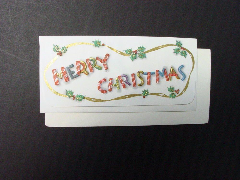 Details about Unused Hallmark Xmas Greeting Card Girl