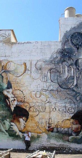 El Niño de las pinturas...street art is pretty cool, but El Niño does incredible stuff.