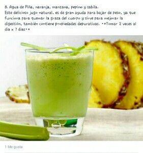 jugo para bajar de peso con piña y manzana