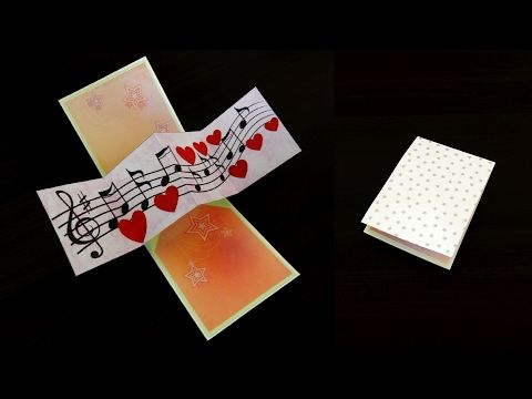 Youtube Heart Pop Up Card Pop Up Card Templates Card Template