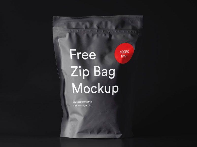 Download Zip Bag Psd Mockup Bag Mockup Zipped Bag Free Mockup