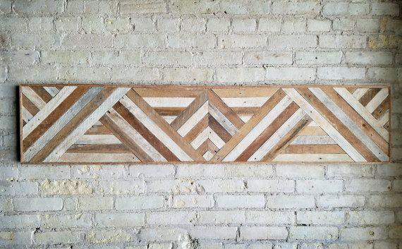 Recuperado arte de pared de madera decoraci n de la pared - Paredes de madera decoracion ...