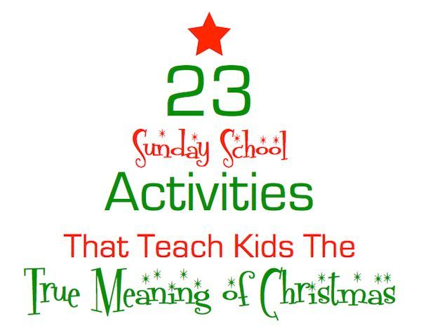 Christmas Sunday School Lessons Crafts Activities And