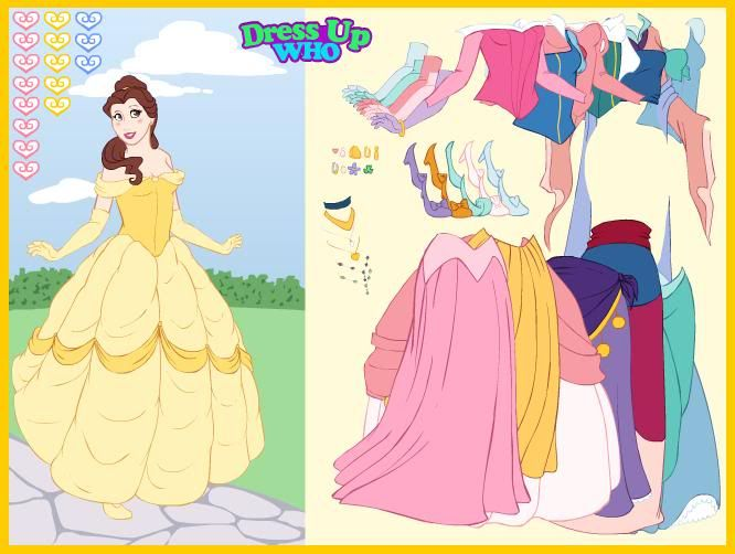 Disney Belle Dress Up Games | - 50.7KB