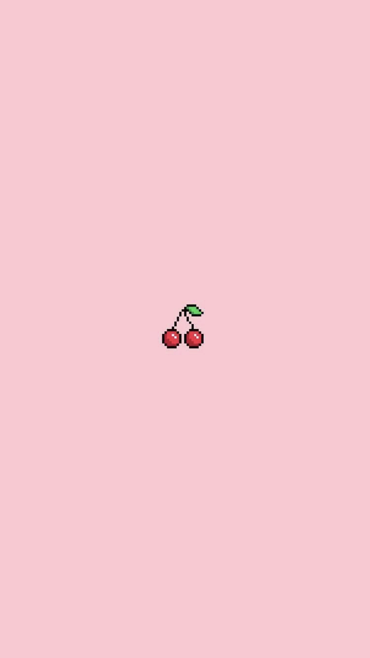 Cherry Pastel Pink Iphone Wallpaper Iphone Wallpaper Vaporwave