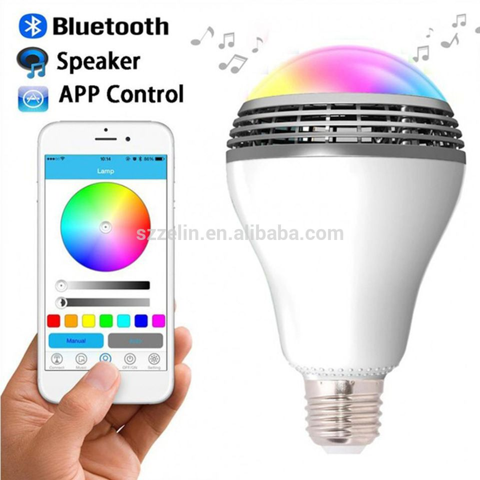 Intelligent RGB LED Bulb Bluetooth Smart Lamp Colorful Dimmable ...