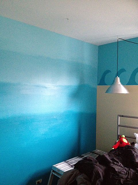 Tween Gets An Ocean Themed Room Ocean Themed Rooms Striped