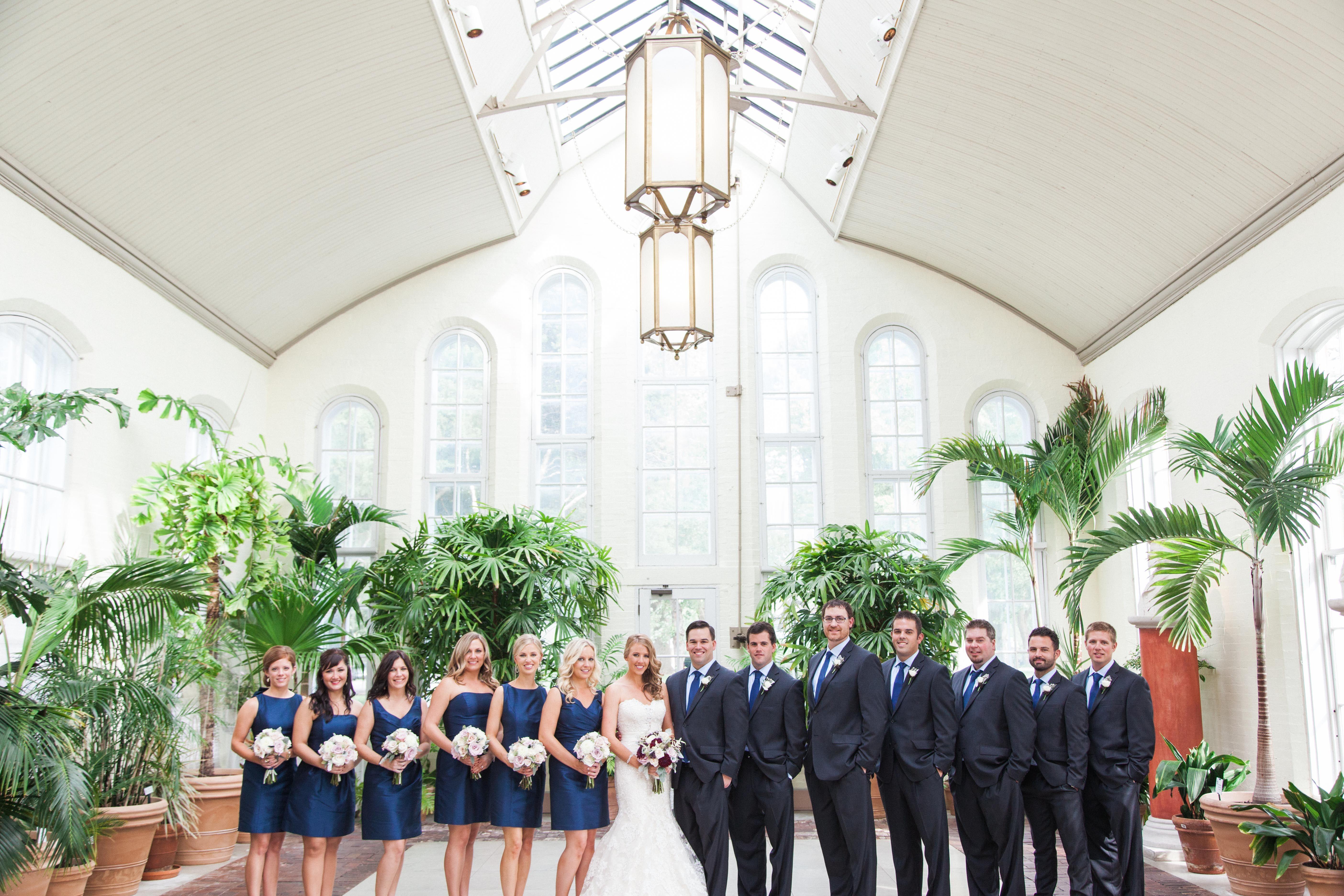 Navy Bridesmaid Dresses, Charcoal Groomsmen Suits | WEDDING ...
