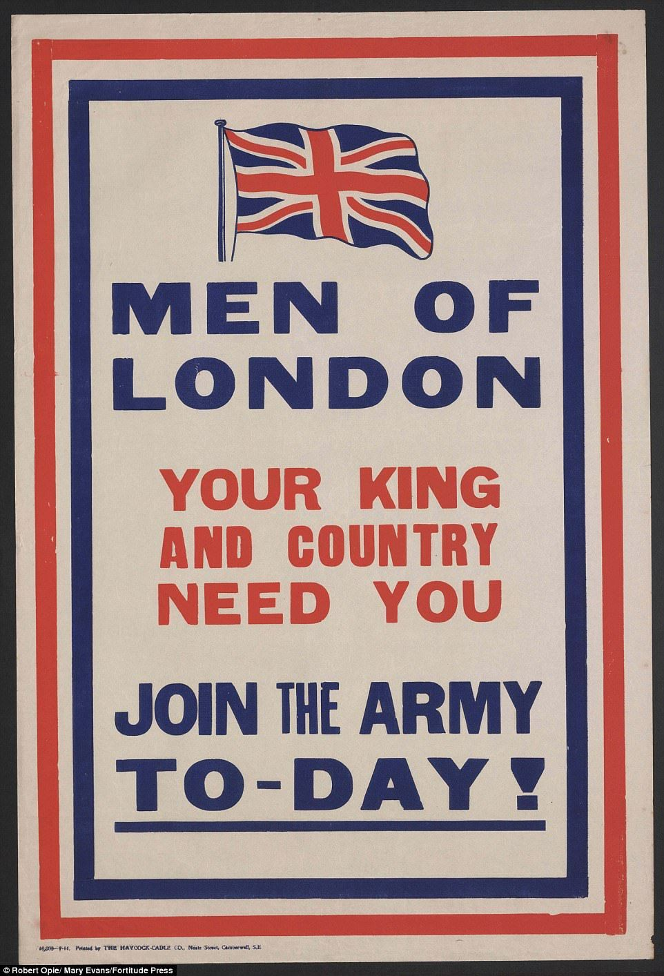Striking World War One posters show how men were recruited