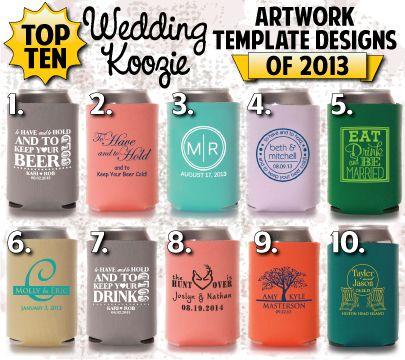 Totally Wedding Koozies.Wedding Koozie Ideas 10 Red Hot Wedding Koozies Totally