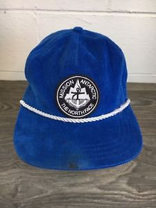 505cfb8d069 North Face Mission Antarctic Hat Blue Corduroy Snapback Rope Bill Patch TNF