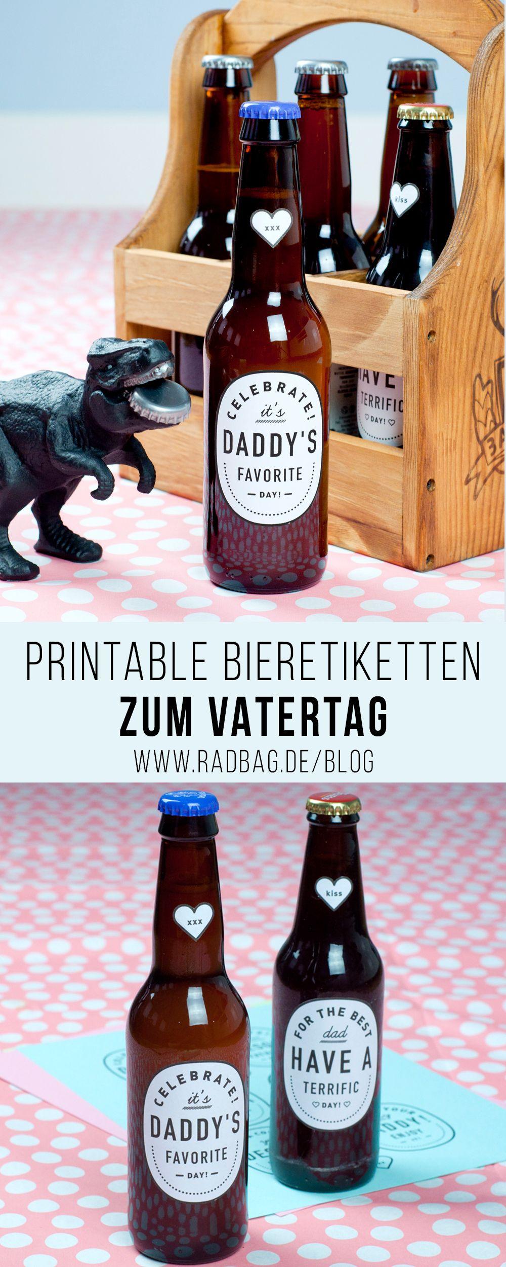 Printable Bieretiketten als cooles Vatertag Geschenk