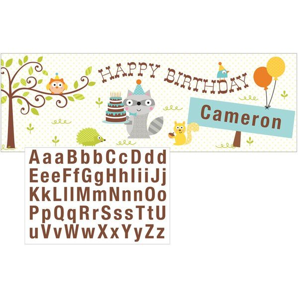 Happi Woodland Boy Giant Party Banner with Stickers/Case of 6