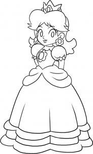 How To Draw Princess Daisy Step 6 Super Mario Coloring Pages Mario Coloring Pages Princess Coloring Pages
