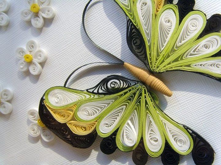 Creative Art And Craft Work Beautiful Butterfly Paper Quilling