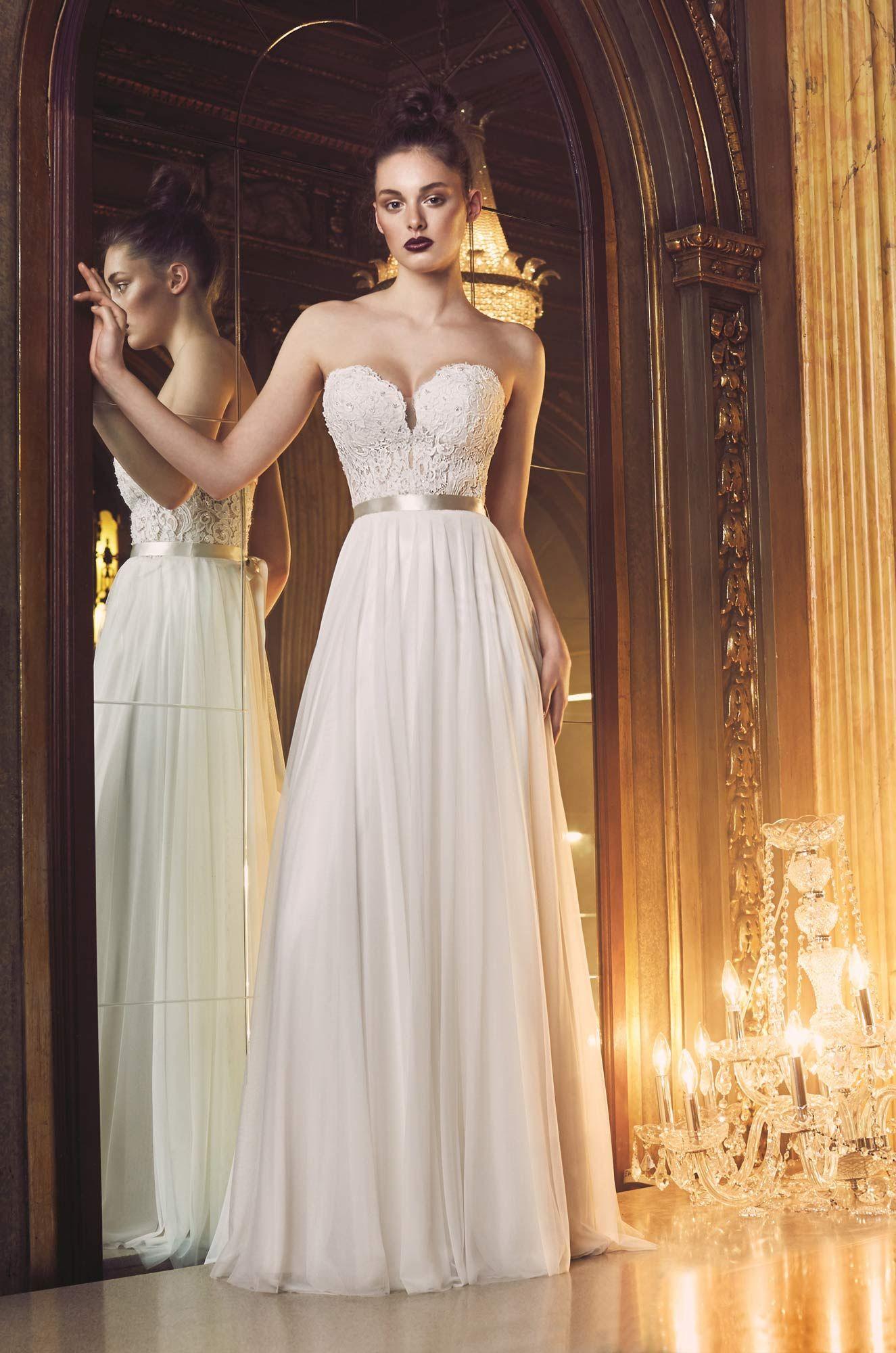 Gathered tulle wedding dress style paloma blanca i said