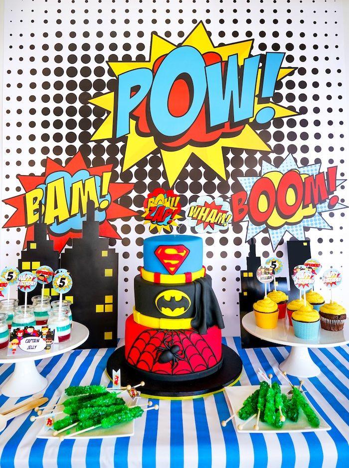 Bam Pow Superhero Birthday Party Kara S Party Ideas