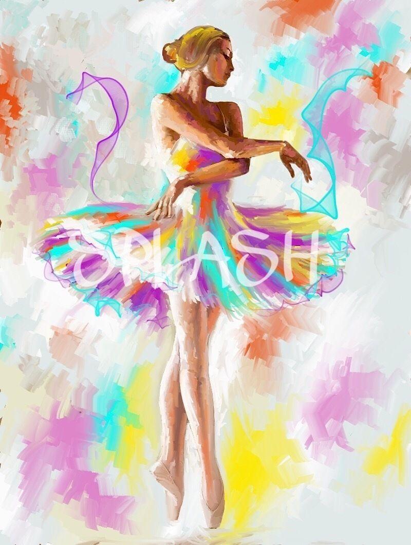 Cuadros modernos pintados a mano baratos bailarinas Comprar cuadros modernos baratos online