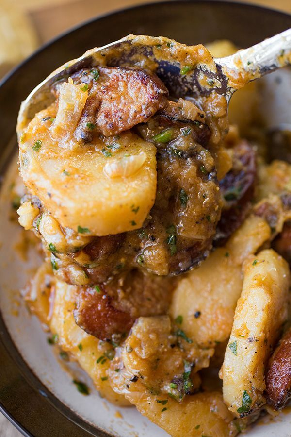 Saucy Hungarian Red Potato Goulash with Smoked Sausage and Savory Caramelized Onions _ A Cozy One-Pan Wonder: Like A Warm Blanky For The Soul