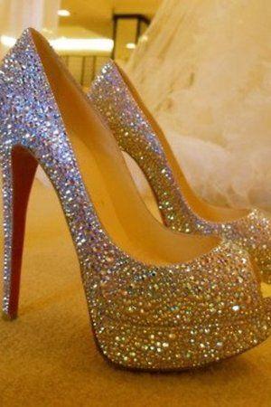 Sequined Louboutin heels