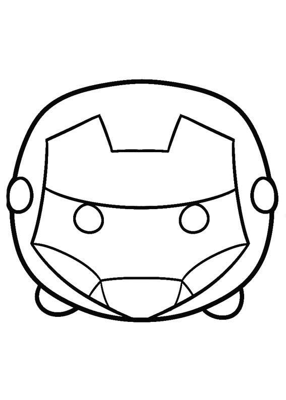 Children Online Coloring Book 10 Disney Tsum Para Colorear Iron Man