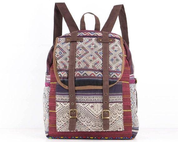 Antique Backpack Purse Vintage Handmade Tribal by TaTonYon on Etsy, $50.00