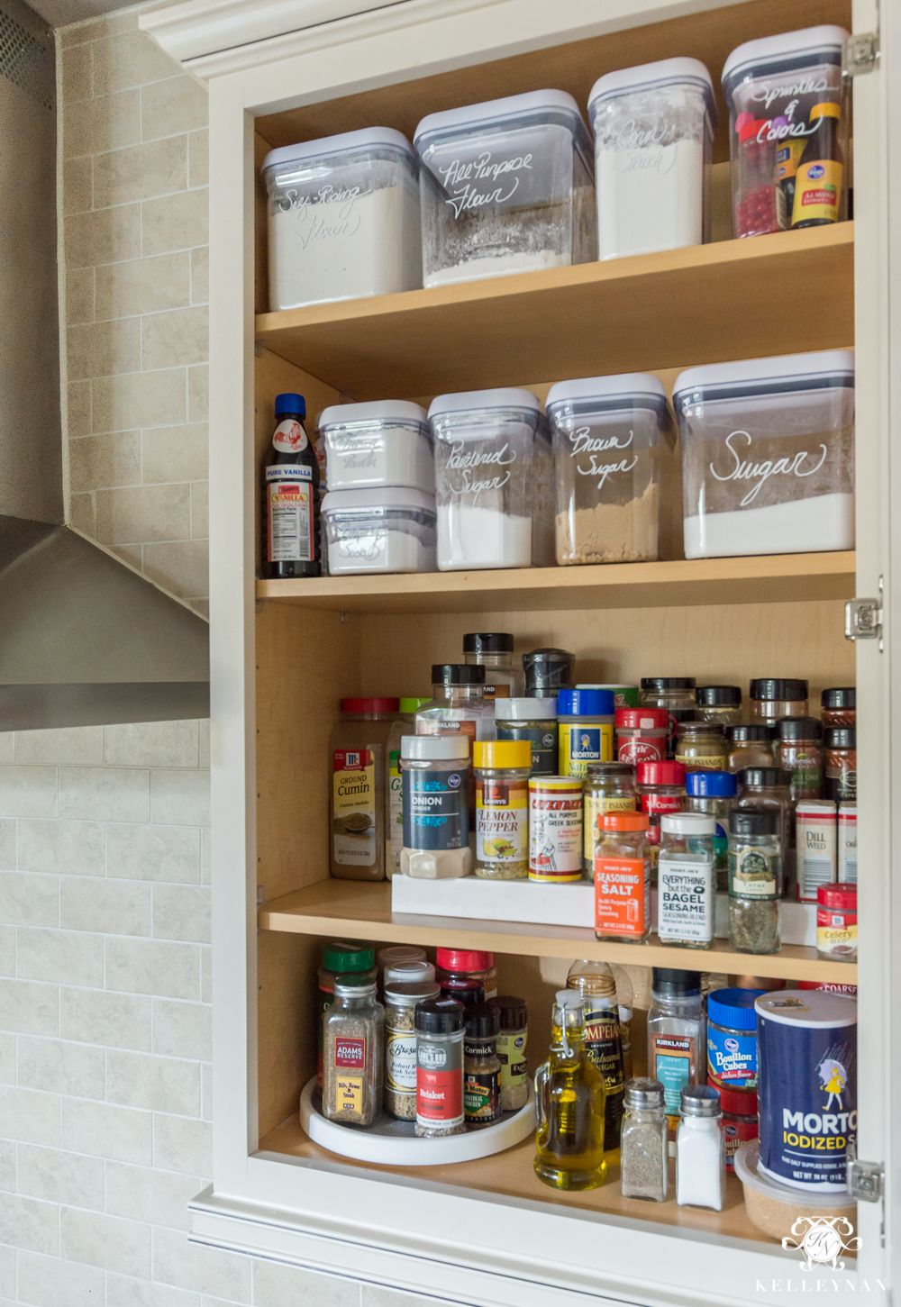 Superieur Organized Spice And Baking Cabinet  Kitchen Organization  Spice Organization  Ideas