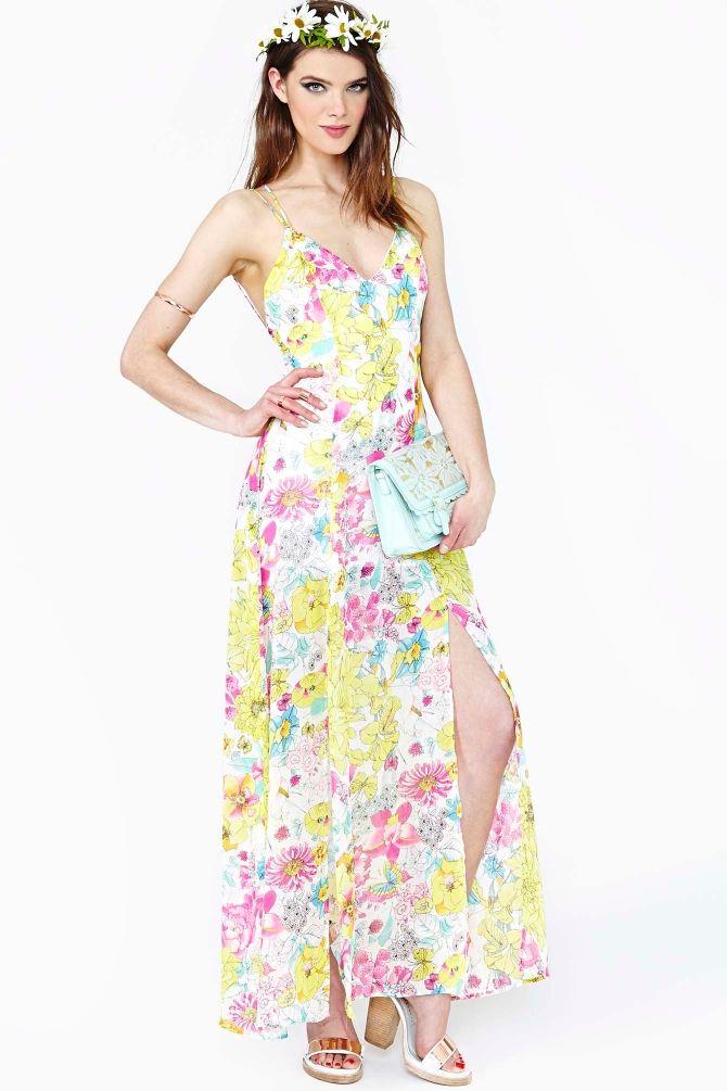 Glowing Spring Maxi Dress   Springing into Fashion!   Pinterest ...