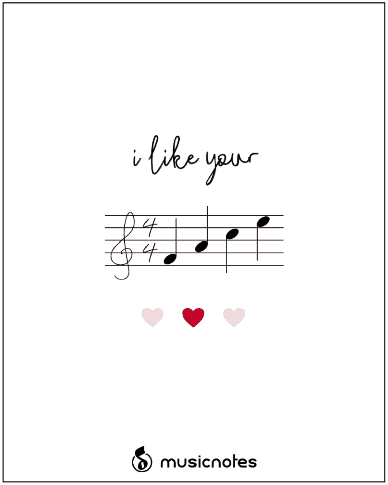 Printable Valentine/'s Day card sweet funny lyrics Downloadable card