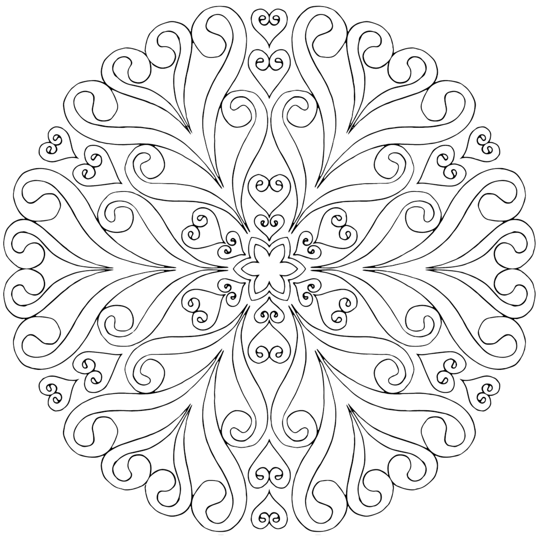 a free mandala coloring page for you to