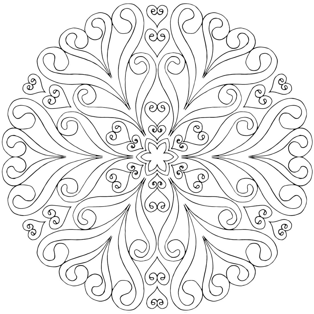 Coloring Pages Mandala Art