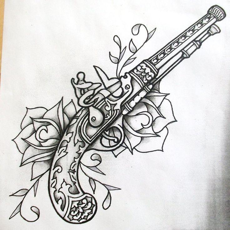 Pingl par manoue perrin blanc sur pistolets visuels pinterest pistolet et visuelle - Tatouage pistolet femme ...