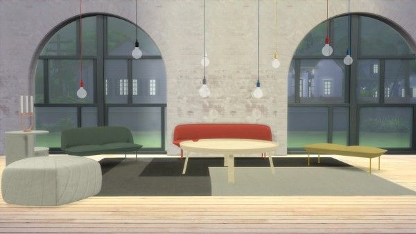Meinkatz Creations E27 Pendant Lamp By Muuto Sims 4 Downloads Interior Design Furniture Design