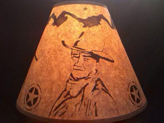 John wayne lamp shade rustic design western by madeincoloradousa design lampshades as a statement western design lamp shades aloadofball Gallery
