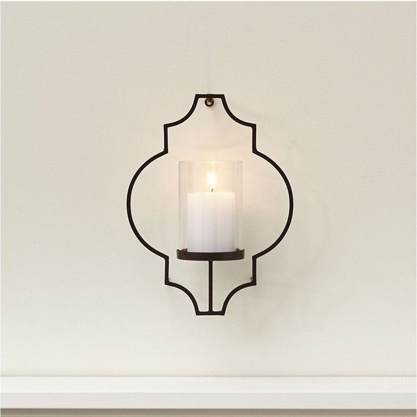 Candle Holder Wall Decor crate & barrel rosaline metal wall candle holder (790 twd