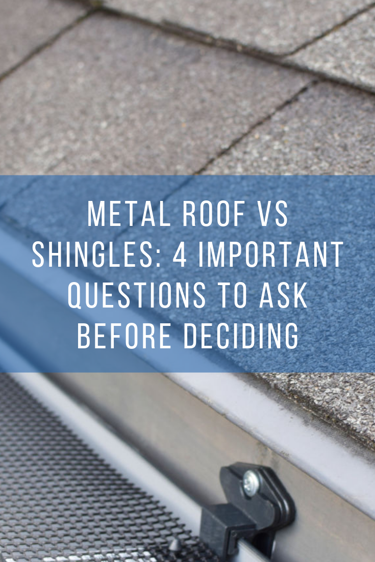 When Replacing Your Roof Do You Go For Metal Or Traditional Shingles Between A Metal Roof Vs Shingl Metal Roof Over Shingles Diy Metal Roof Metal Roof Houses