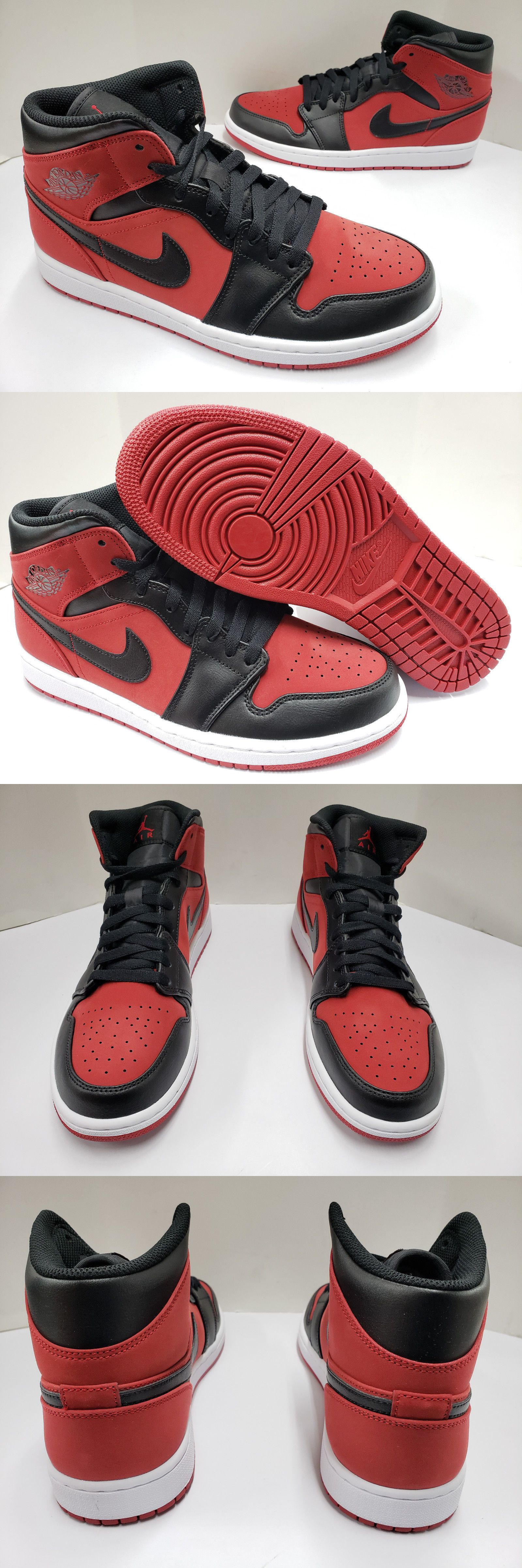 new product 18e37 206f0 Clothing Shoes and Accessories 158963  Nib Mens Nike Air Jordan 1 Mid  Banned Gym Red