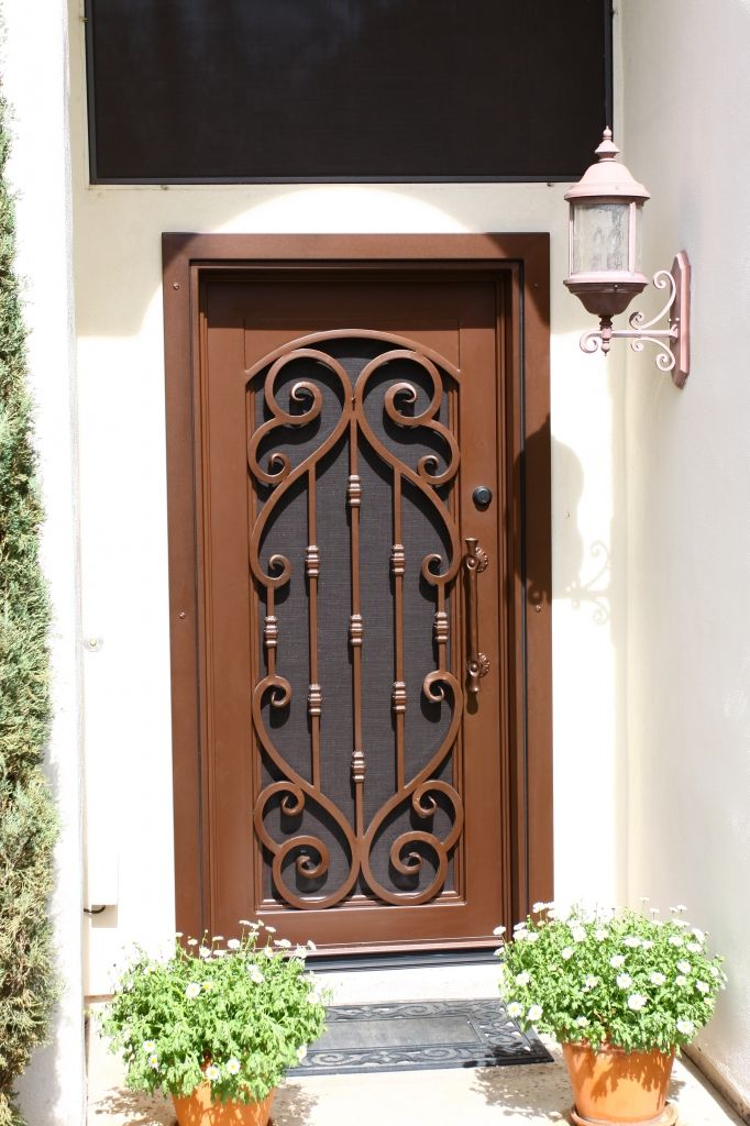 Verona Iron Entry Door - By First Impression Security Doors ...