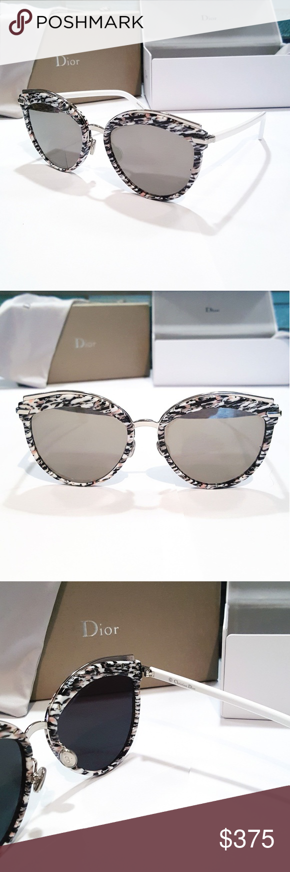 54307b9bbd Dior Offset 2 Mirrored Cat Eye Sunglasses Brand New Dior Offset 2S W6Q 0T  Sunglasses. These cute sunglasses feature a pink and black tweed pattern  cat eye ...
