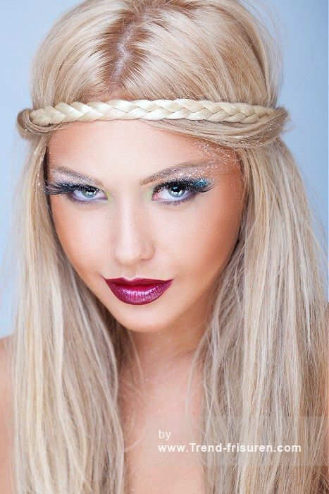 festival haar lange blonde weiblich gerade farbige geflochtene stirnband hippie festival frauen. Black Bedroom Furniture Sets. Home Design Ideas
