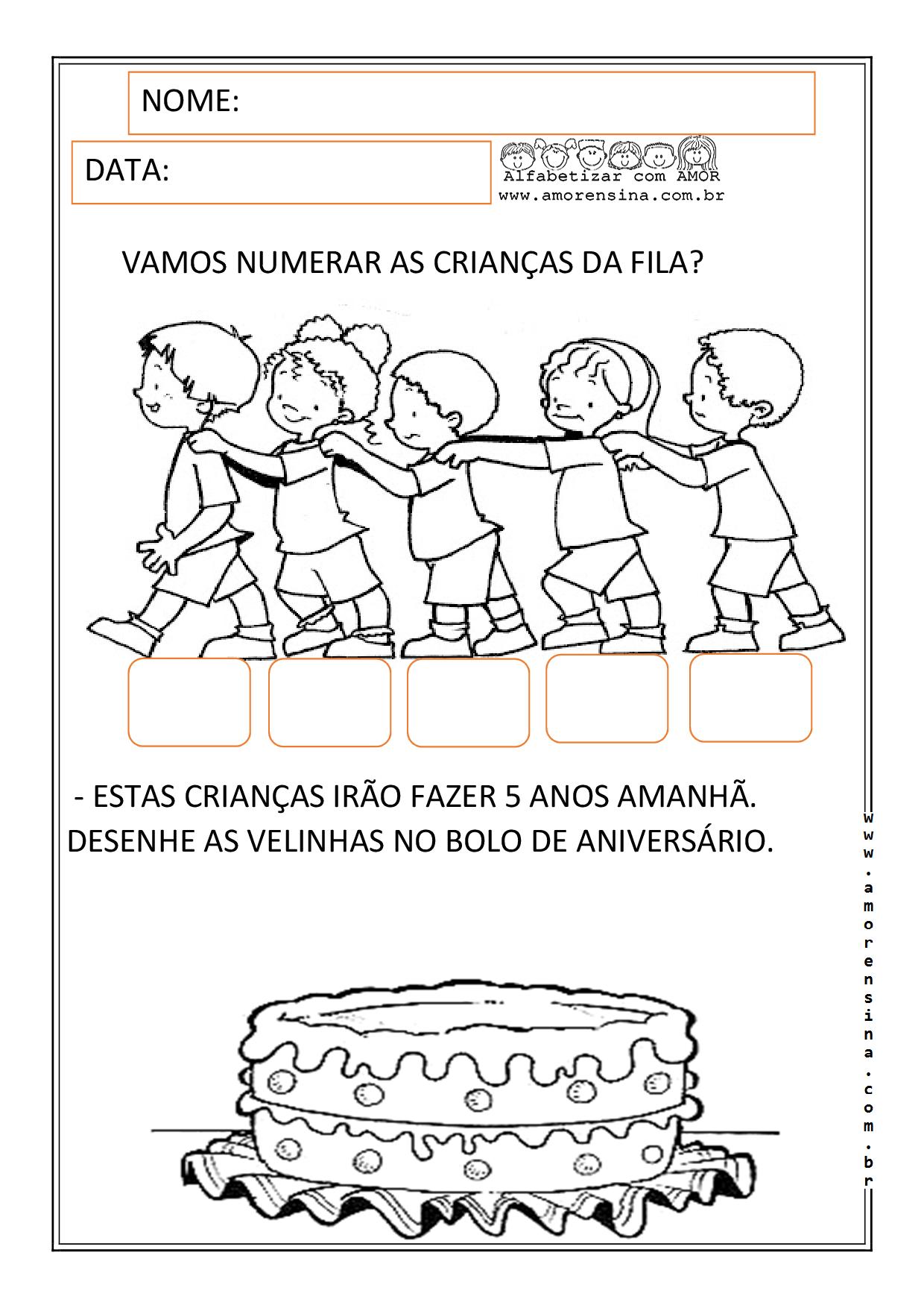 Primeiro periodo educação infantil idade