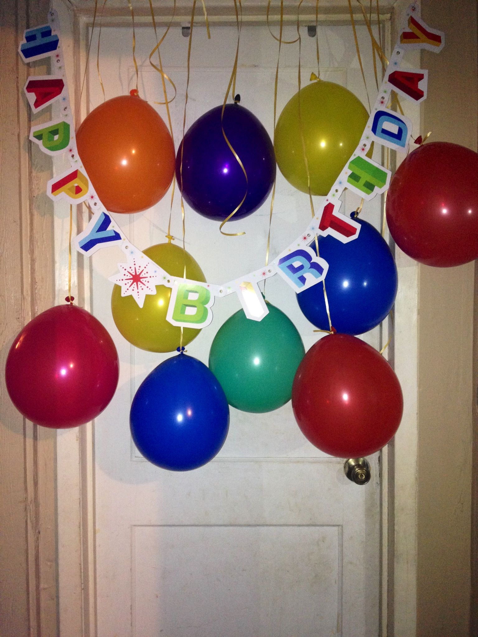 Birthday Surprise Outside My Sons Bedroom Door Party